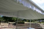 6m x 3m structure with silk lining and no walls