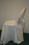 white chair cover with white bow