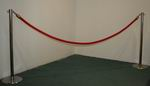 Red rope and pole