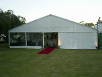 12 metre structure with red carpet